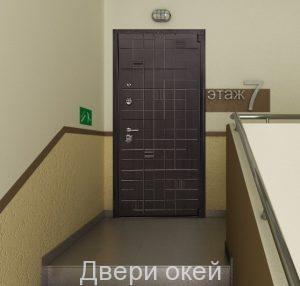 Вид двери изнутри Евроэталон 25